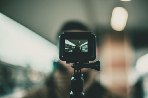 Camera Capturing a Man for Video Marketing